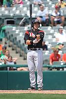 Richmond Flying Squirrels infielder Adam Duvall (8) during game against the Trenton Thunder at ARM & HAMMER Park on June 9 2013 in Trenton, NJ.  Trenton defeated Richmond 3-2.  Tomasso DeRosa/Four Seam Images