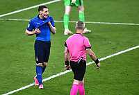 11th July 2021; Wembley Stadium, London, England; 2020 European Football Championships Final England versus Italy;  Andrea Belotti looks djected as his penalty is saved vy Pickford