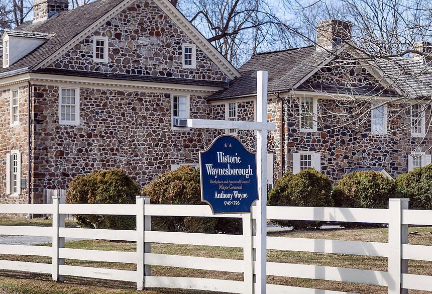 Historic Waynesboro, home of Major General Anthony Wayne, 1745-1796, Paoli, Pennsylvania, USA