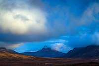 Stac Pollaidh, Coigach, from the North Coast 500, Ross & Cromarty, Northwest Highlands