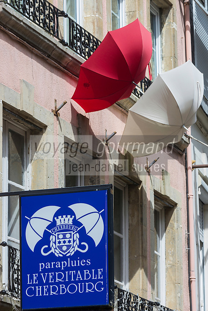 Europe/France/Normandie/Basse-Normandie/50/Manche/Cherbourg:  Enseigne magasin de parapluies de Cherbourg //   France, Manche, Cotentin, Cherbourg, Teaches store Umbrellas of Cherbourg