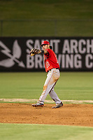 AZL Angels shortstop Stephen Kerr (16) on defense during a game against the AZL Giants on July 9, 2017 at Diablo Stadium in Tempe, Arizona. AZL Giants defeated the AZL Angels 8-4. (Zachary Lucy/Four Seam Images)