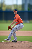 GCL Astros pitcher Jacob Billingsley (28) during a Gulf Coast League game against the GCL Nationals on August 9, 2019 at FITTEAM Ballpark of the Palm Beaches training complex in Palm Beach, Florida.  GCL Nationals defeated the GCL Astros 8-2.  (Mike Janes/Four Seam Images)