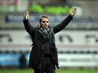 ATTENTION SPORTS PICTURE DESK<br /> Pictured: Brendan Rodgers manager for Swansea protesting to the referee<br /> Re: npower Championship, Swansea City FC v Portsmouth Football Club at the Liberty Stadium, south Wales. Friday 26 November 2010