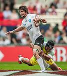 Cook Islands vs Uruguay during the Cathay Pacific / HSBC Hong Kong Sevens at the Hong Kong Stadium on 28 March 2014 in Hong Kong, China. Photo by Juan Flor / Power Sport Images