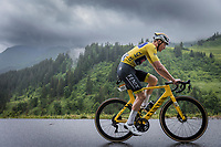yellow jersey Mathieu van der Poel (NED/Alpecin Fenix) up the Col de la Colombière <br /> <br /> Stage 8 from Oyonnax to Le Grand-Bornand (150.8km)<br /> 108th Tour de France 2021 (2.UWT)<br /> <br /> ©kramon