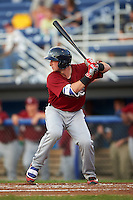 Mahoning Valley Scrappers catcher Logan Ice (11) at bat during a game against the Batavia Muckdogs on August 19, 2016 at Dwyer Stadium in Batavia, New York.  Mahoning Valley defeated Batavia 9-2.  (Mike Janes/Four Seam Images)