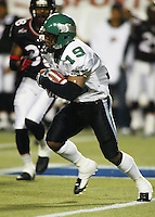 Corey Holmes Saskatchewan Roughriders 2004. Photo F. Scott Grant