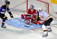 24 January 2009: Montreal Canadiens' goaltender Carey Price gives up his fifth goal during the NHL YoungStars Game where the Rookies defeated the Sophomores 9-5 in the NHL SuperSkills Competition, part of the All-Star Weekend at the Bell Centre in Montreal, Quebec, Canada. ***** Editorial Sales Only ***** Mandatory Photo Credit: Ed Wolfstein Photo
