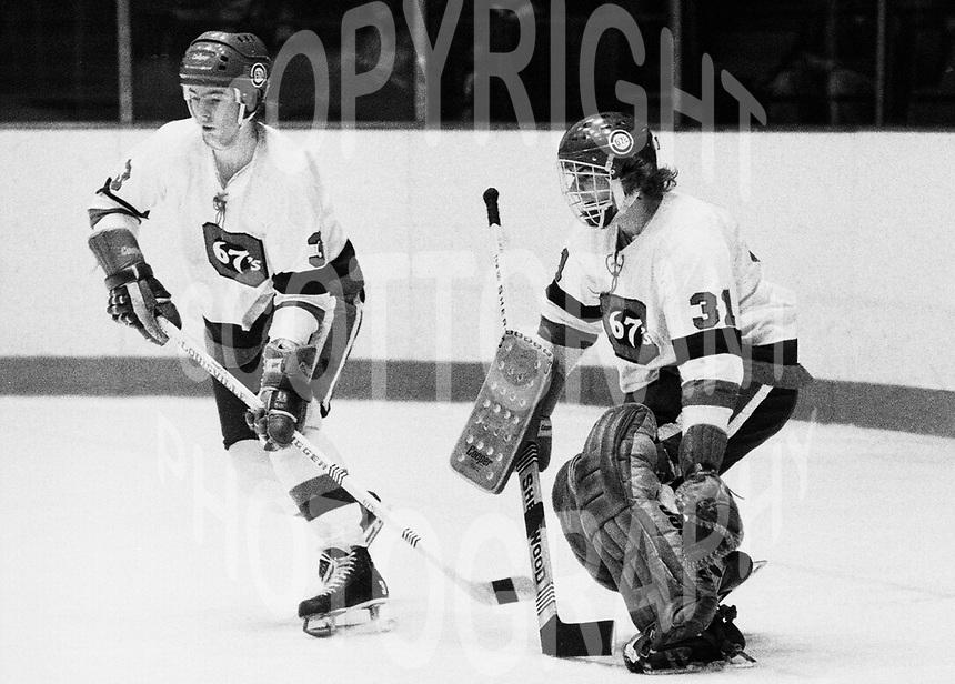 Doug Crossman Paul Minaker Ottawa 67's. Photo Scott Grant
