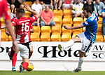 St Johnstone v East Fife…14.07.18…  McDiarmid Park    League Cup<br />Drey Wright's shot is blocked by Daryl Meggat<br />Picture by Graeme Hart. <br />Copyright Perthshire Picture Agency<br />Tel: 01738 623350  Mobile: 07990 594431