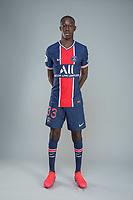 14th October 2020, Paris, France; Official League 1 player portrait for Paris Saint Germain;  FADIGA Bandiougou