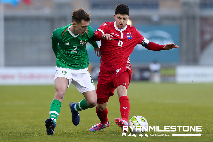 UEFA U21 European Championship Qualifier<br /> Rep of Ireland v Luxembourg<br /> Sunday 24th March 2019,<br /> Tallaght Stadium, Dublin.<br /> Lee O'Connor of Republic of Ireland in action against Luca Duriatti of Luxembourg.<br /> Mandatory Credit: Michael P Ryan