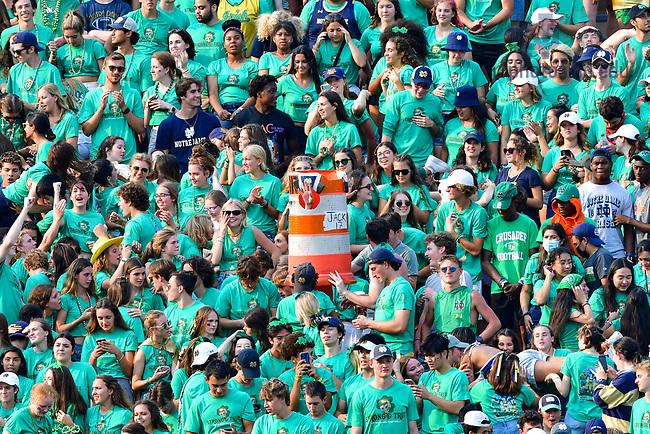 September 11, 2021; Student section during the football game against Toledo. (photo by Matt Cashore/University of Notre Dame)