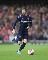 West Ham United's Aaron Cresswell<br /> <br /> Photographer Rob Newell/CameraSport<br /> <br /> The Premier League - Arsenal v West Ham United - Saturday 7th March 2020 - The Emirates Stadium - London<br /> <br /> World Copyright © 2020 CameraSport. All rights reserved. 43 Linden Ave. Countesthorpe. Leicester. England. LE8 5PG - Tel: +44 (0) 116 277 4147 - admin@camerasport.com - www.camerasport.com