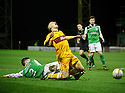 MATT DOHERTY BRINGS DOWN HENRIK OJAMAA FOR THE SECOND PENALTY.