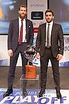 Sergio Rodriguez and Facun Campacho during presentation of the Liga Endesa playoff. May 23,2016. (ALTERPHOTOS/Rodrigo Jimenez)
