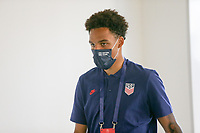 ST. GALLEN, SWITZERLAND - MAY 30: Antonee Robinson #12 of the United States before a game between Switzerland and USMNT at Kybunpark on May 30, 2021 in St. Gallen, Switzerland.