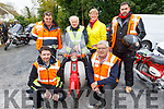 Ready for their nifty 50 Honda Run for the Kerry Hospice in Boolteens on Sunday.<br /> Kneeling: Johnny Daly and Donal Griffin. <br /> Standing l to r: Francie Ashe, Frank O'Connor, Maura O'Sullivan and Stephen O'Connor.
