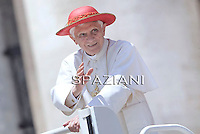 Pope Benedict XVI during his weekly general audience in St. Peter square at the Vatican, Wednesday. 15 June, 2011