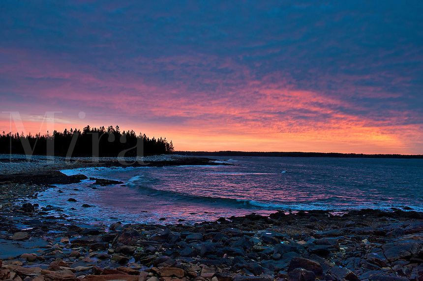 Seawall Beach.Acadia National Park, Southwest Harbor, ME, Maine