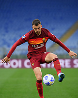 Football, Serie A: AS Roma - Bologna, Olympic stadium, Rome, April 11, 2021. <br /> Roma's Borja Mayoral in action during the Italian Serie A football match between AS Roma and Bologna at Rome's Olympic stadium, Rome, on April 11, 2021.  <br /> UPDATE IMAGES PRESS/Isabella Bonotto