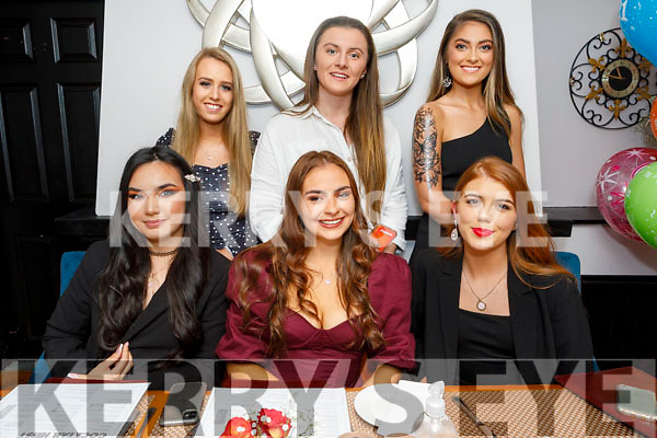 Grainne Sheehan from Tralee celebrating her birthday on Saturday in Croi. Front l to r: Tamila Khussainova, Grainne Sheehan and Caitlin McConnell. Back l to r: Maeve Bradley, Megan O'Donnell and Lauren Griffin.