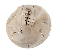 BNPS.co.uk (01202) 558833.<br /> Pic: Julien's Auctions/BNPS<br /> <br /> Pictured: A football used at the 1934 World Cup, held in Italy, is valued at £30,000.<br /> <br /> Iconic sports memorabilia including Zinedine Zidane's FIFA World Cup France 98 final shirt has emerged for sale.<br /> <br /> The legendary French footballer wore the classic blue Adidas shirt while scoring two headers in his nation's 3-0 win over Brazil at the Stade de France in Paris.<br /> <br /> The signed shirt, which is embroidered 'Brasil France 12-07-98', is tipped to fetch £90,000 with US based Julien's Auctions, of California.<br /> <br /> Also going under the hammer is Diego Maradona's Argentina shirt for their World Cup 1990 clash against Brazil, which is valued at £45,000.<br /> <br /> One of the marquee lots is basketball superstar Michael Jordan's 1992 Barcelona Olympics 'Dream Team' US vest that could go for £35,000.