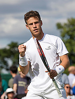 London, England, 27 june, 2016, Tennis, Wimbledon, Diego Schwartzman (ARG) celebrates<br /> Photo: Henk Koster/tennisimages.com