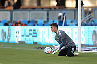 SAN JOSE, CA - MAY 12: JT Marcinkowski #1 of the San Jose Earthquakes before a game between Seattle Sounders FC and San Jose Earthquakes at PayPal Park on May 12, 2021 in San Jose, California.