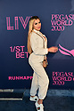 HALLANDALE BEACH, FL - JANUARY 25: Alexa Dellanos attends the 2020 Pegasus World Cup Championship Invitational Series at Gulfstream Park on January 25, 2020 in Hallandale, Florida. ( Photo by Johnny Louis / jlnphotography.com )