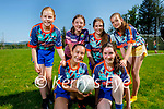Enjoying the Ballymac GAA Cúl Camp on Tuesday, Kneeling l to r: Rí-Ann Zhang and Molly O'Connor. Back l to r: Olivia Sweeney, Fiona McCarthy, Katie Turner and Cait Griffin.