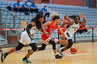 Ezinne Kalu (23) of Nigeria , Dayshalee Salaman (12) of Puerto Rico , Promise Amukamara (10) of Nigeria pictured during a basketball game between Nigeria and Puerto Rico on Friday 28 th of May 2021 in Kortrijk , Belgium . PHOTO SPORTPIX.BE   SPP   STIJN AUDOOREN