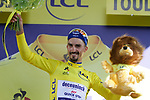 Race leader Julian Alaphilippe (FRA) Deceuninck-Quick Step retains the Yellow Jersey at the end of Stage 11 of the 2019 Tour de France running 167km from Albi to Toulouse, France. 17th July 2019.<br /> Picture: Colin Flockton   Cyclefile<br /> All photos usage must carry mandatory copyright credit (© Cyclefile   Colin Flockton)