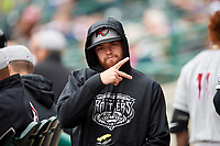 Wisconsin Timber Rattlers Braden Webb (30) poses for a photo in the dugout during a game against the Fort Wayne TinCaps on May 10, 2017 at Parkview Field in Fort Wayne, Indiana.  Fort Wayne defeated Wisconsin 3-2.  (Mike Janes/Four Seam Images)