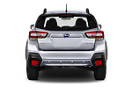 Straight rear view of 2021 Subaru Crosstrek - 5 Door SUV Rear View  stock images