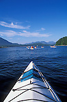 Clayoquot Sound kayak tour with Tofino Sea Kayaking Company; Vancouver Island, British Columbia.
