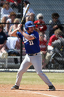 March 15, 2010:  Catcher jeff Lieneck of the Wheaton College Lyons in a game vs SUNY Cortland at Lake Myrtle Park in Auburndale, FL.  Photo By Mike Janes/Four Seam Images