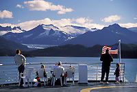 Alaska marine ferry in the inside passage between Juneau and Sitka, Alaska
