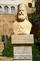 Bust of the Greek Orthodox Metropolitan Patriach of Syros,  Syros Island [ ????? ] , Greek Cyclades Islands