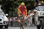 Spanish Champion Luis León Sánchez (ESP) Caisse d'Epargne in action during Stage 19 of the 2010 Tour de France an individual time trial running 52km from Bordeaux to Pauillac, France. 24th July 2010.<br /> (Photo by Eoin Clarke/NEWSFILE).<br /> All photos usage must carry mandatory copyright credit (© NEWSFILE | Eoin Clarke)