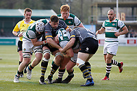 Jordan Els of Ealing Trailfinders surges forward during the Greene King IPA Championship match between Ealing Trailfinders and Nottingham Rugby at Castle Bar , West Ealing , England  on 30 March 2019. Photo by Carlton Myrie.