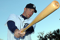 Feb 21, 2009; Lakeland, FL, USA; The Detroit Tigers outfielder Clete Thomas (34) during photoday at Tigertown. Mandatory Credit: Tomasso De Rosa/ Four Seam Images