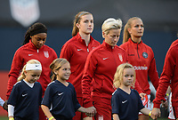 San Diego, Ca - Sunday, January 21, 2018: Tierna Davidson and Player Escorts during a USWNT 5-1 victory over Denmark at SDCCU Stadium.