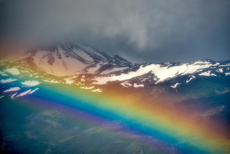 Rainbow over Straits of Megellan. Chile, South America