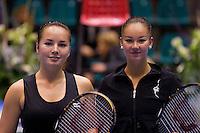 15-12-10, Tennis, Rotterdam, Reaal Tennis Masters 2010,   Nicole Thyssen en Lesley Kerkhove(R)