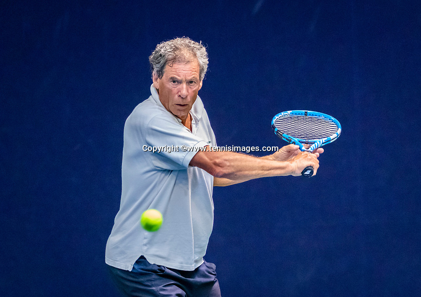 Hilversum, The Netherlands,  August 17, 2021,  Tulip Tennis Center, NKS, National Senior Tennis Championships, Men's 65+   Jan Lind (NED)<br /> Photo: Tennisimages/Henk Koster