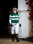 Victor Espinoza before the Daisycutter Stakes at Del Mar, in Del Mar Ca, July 24, 2020. (Photo: Alex Evers)
