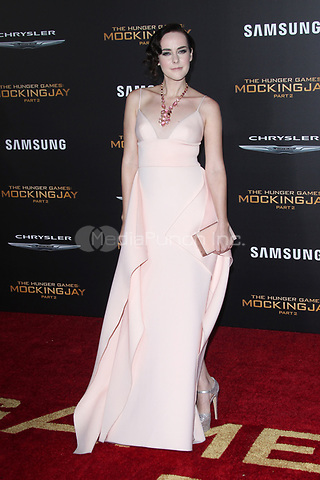 "LOS ANGELES, CA - NOVEMBER 16: Jena Malone at the Premiere Of ""The Hunger Games: Mockingjay - Part 2"" At Microsoft Theater On November 16, 2015. Credit: mpi21/MediaPunch"