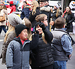 "Alex Johnston and Amber Johnston from The cast of TLC's ""7 Little Johnstons"" filming promoting filming a visit to Times Square on January 4, 2019 in New York City."